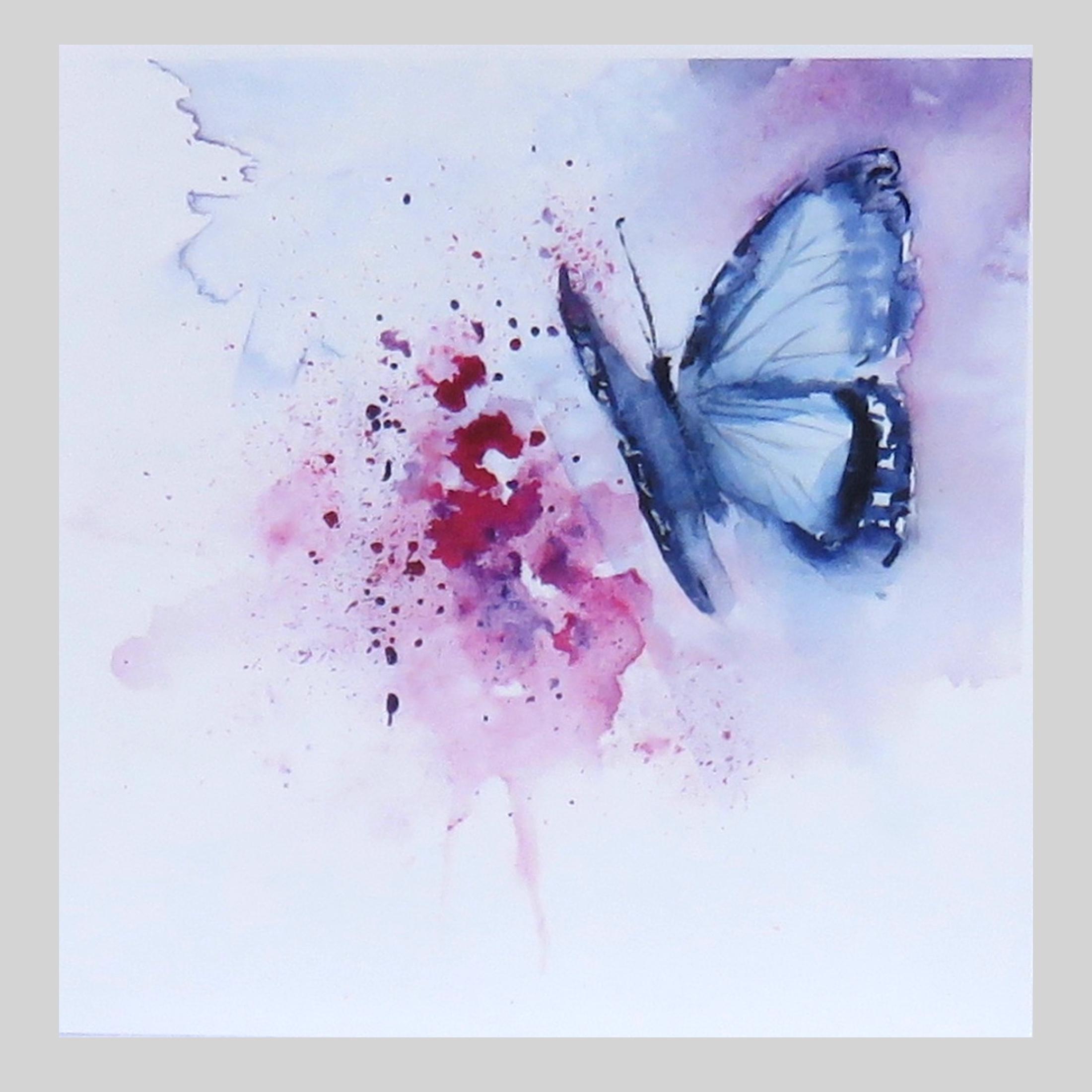 Blue Butterfly – card