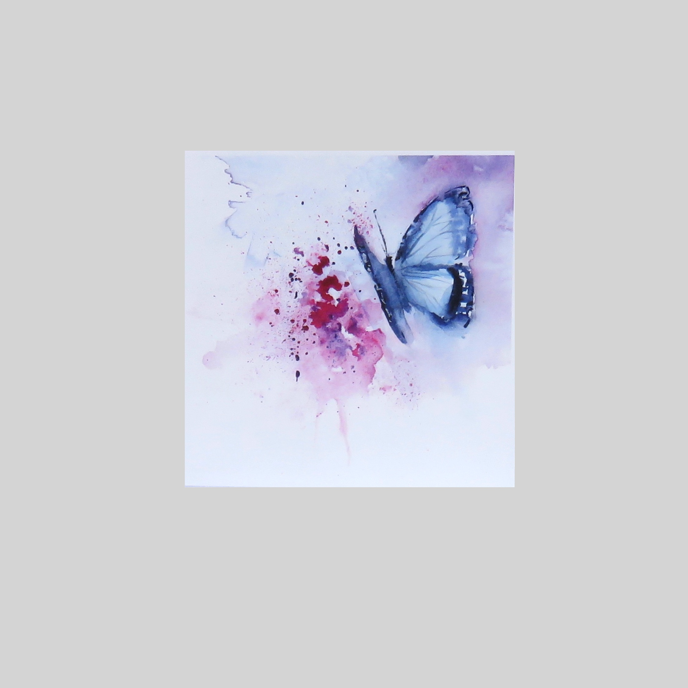 Blue Butterfly – card