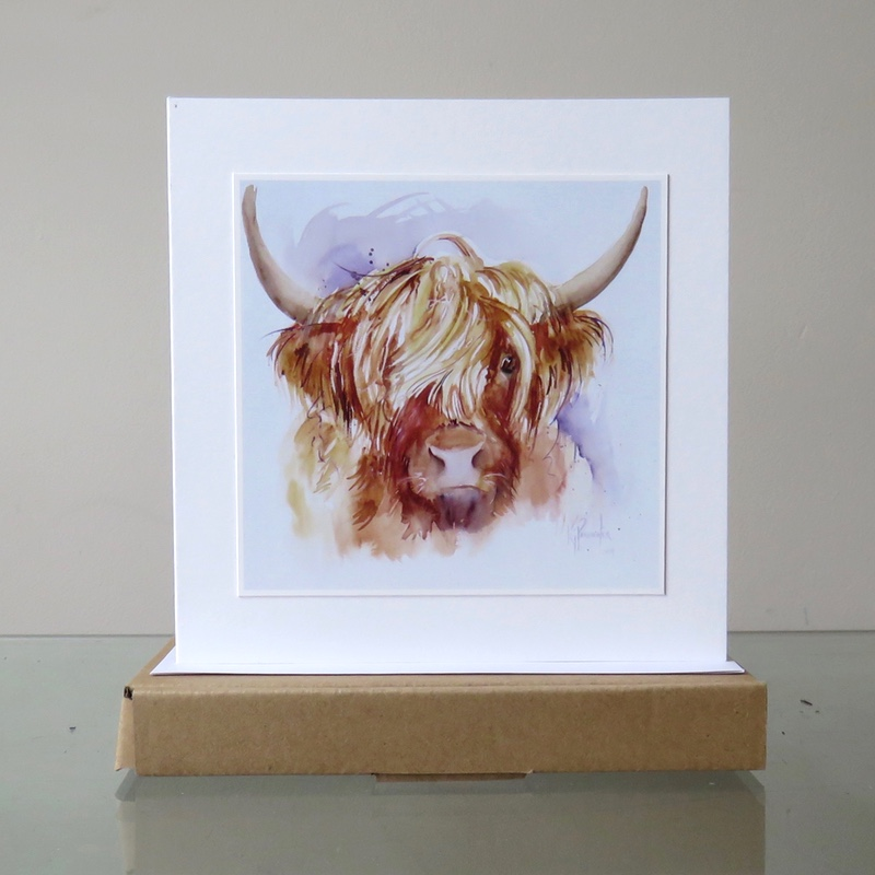 Hairy Highland Cow – Card