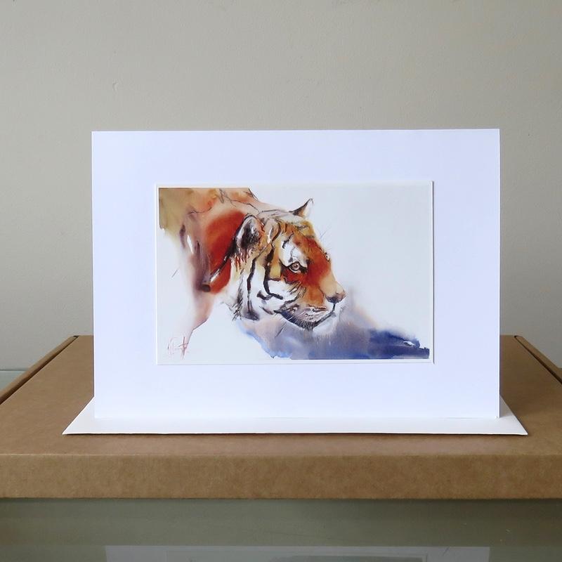 Tiger Burning Bright card