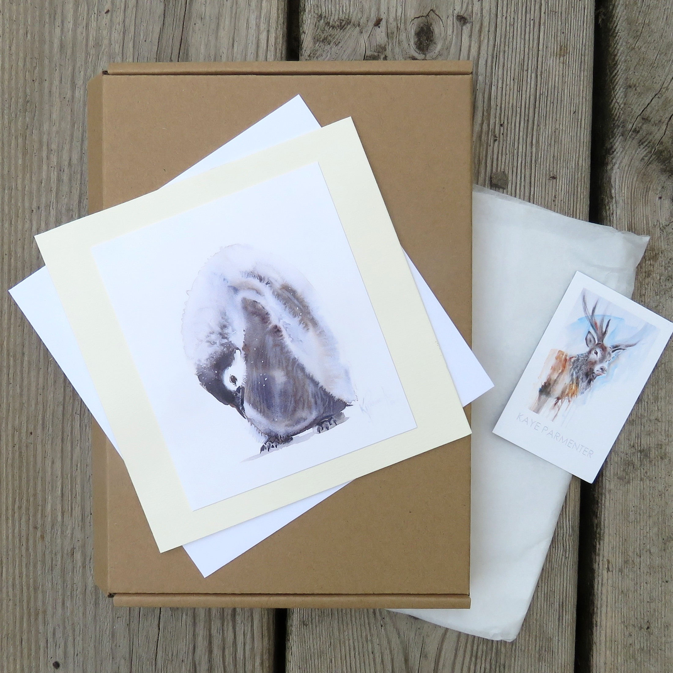 Nestling (Penguin) Card