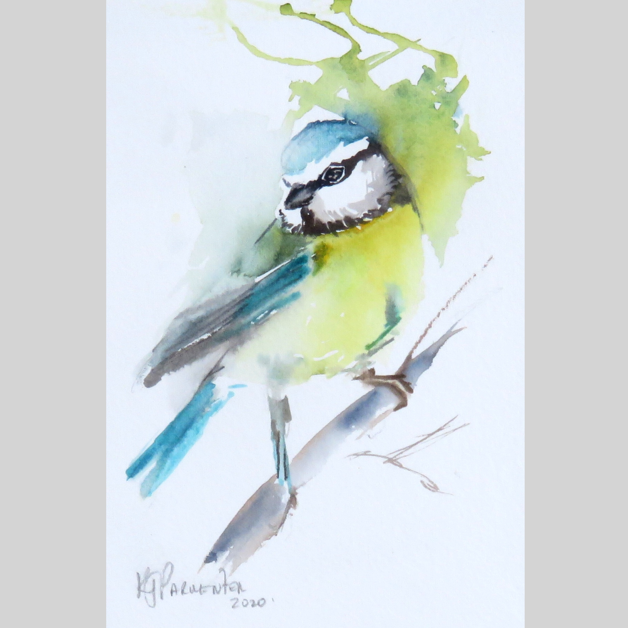 Painted card – Mr Blue (Sold)