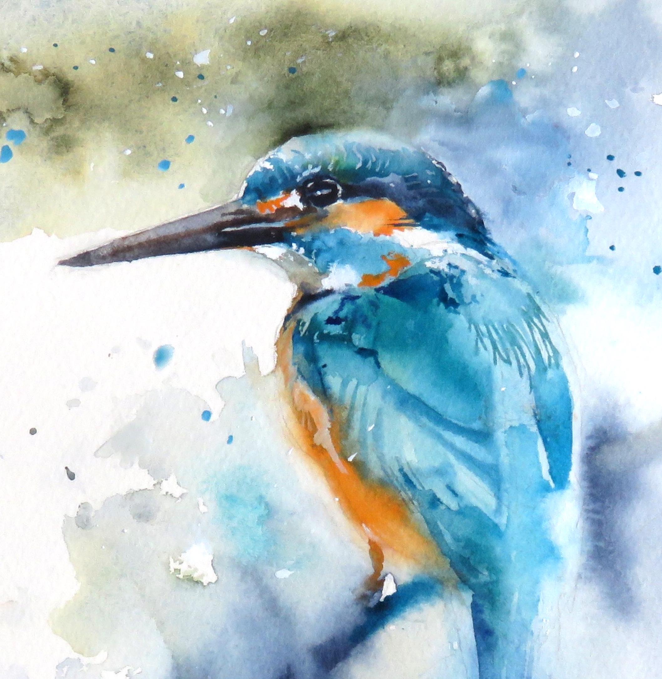 Kingfisher Blue Card