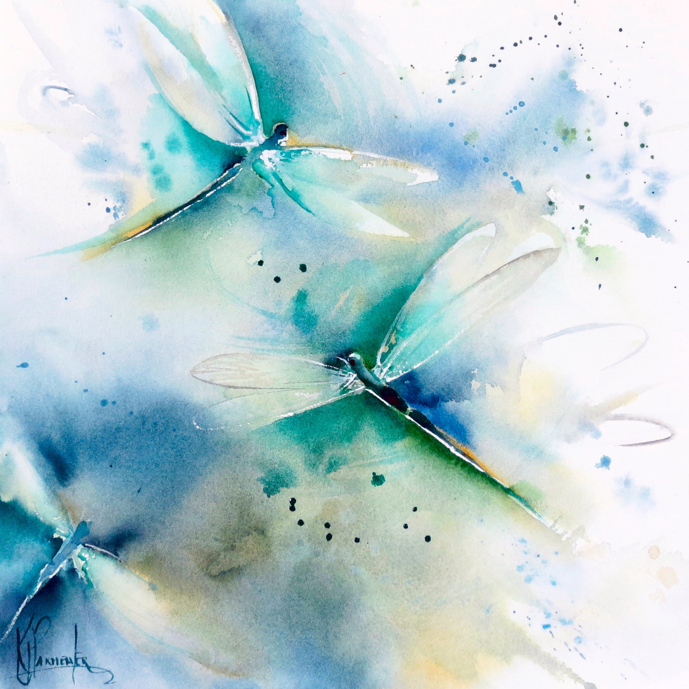 Dragonfly on water's edge – live workshop