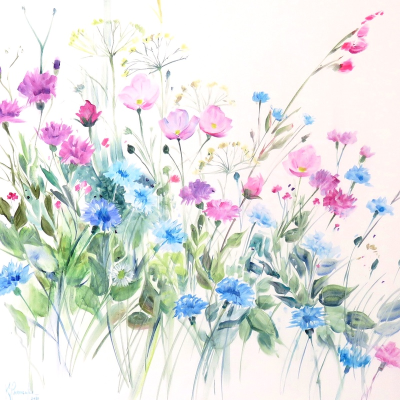 Summer Meadow in the Pink