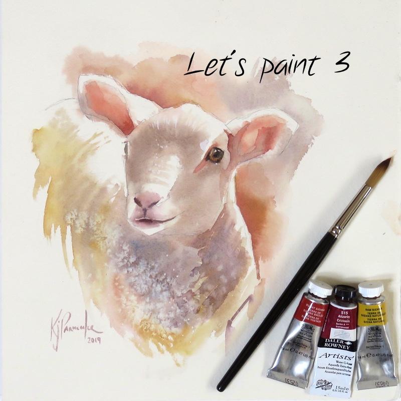 Let's paint – 3.  Spring Lamb
