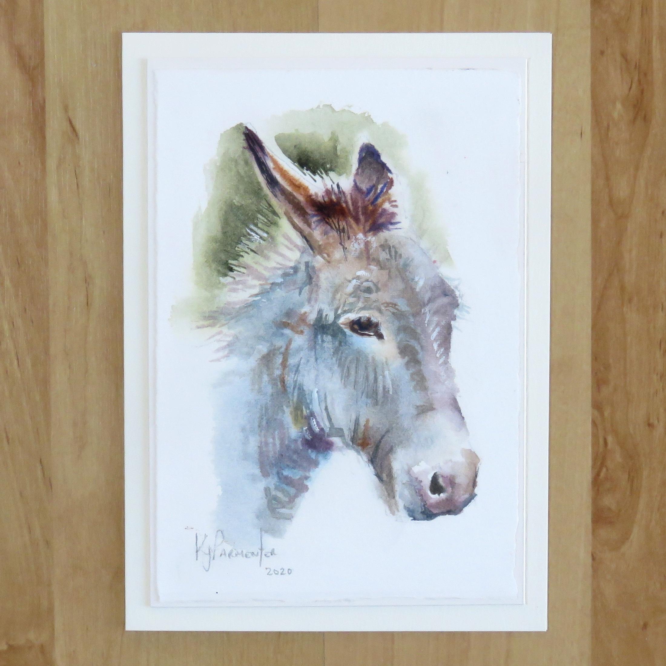 Painted card – Mr Mule (Sold)