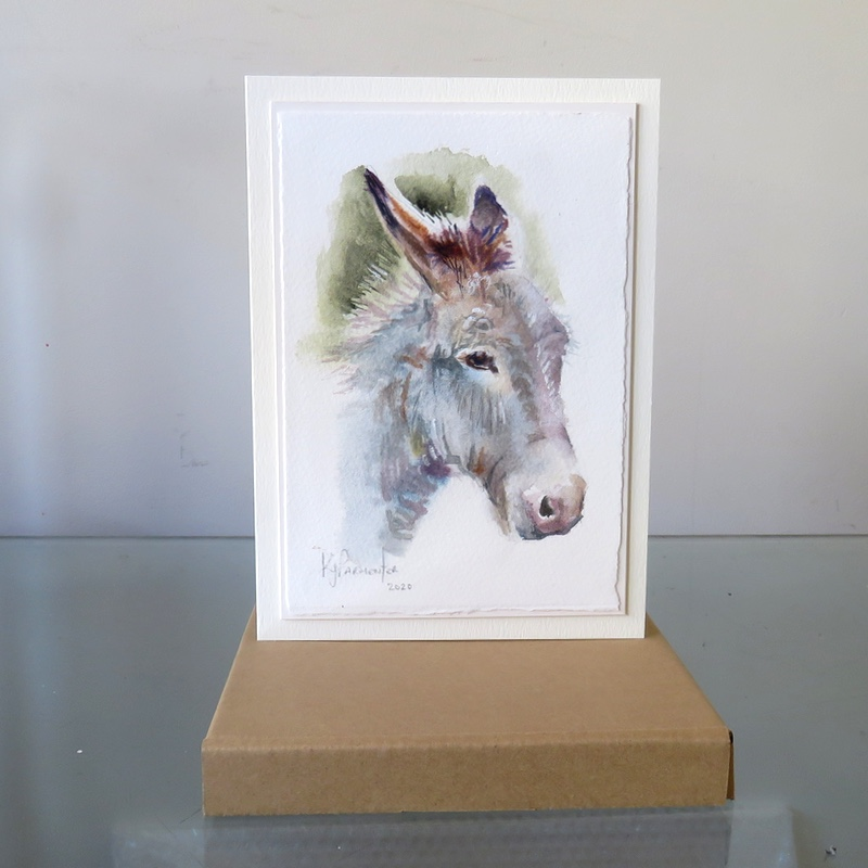 Painted card – Mr Mule (Sold)