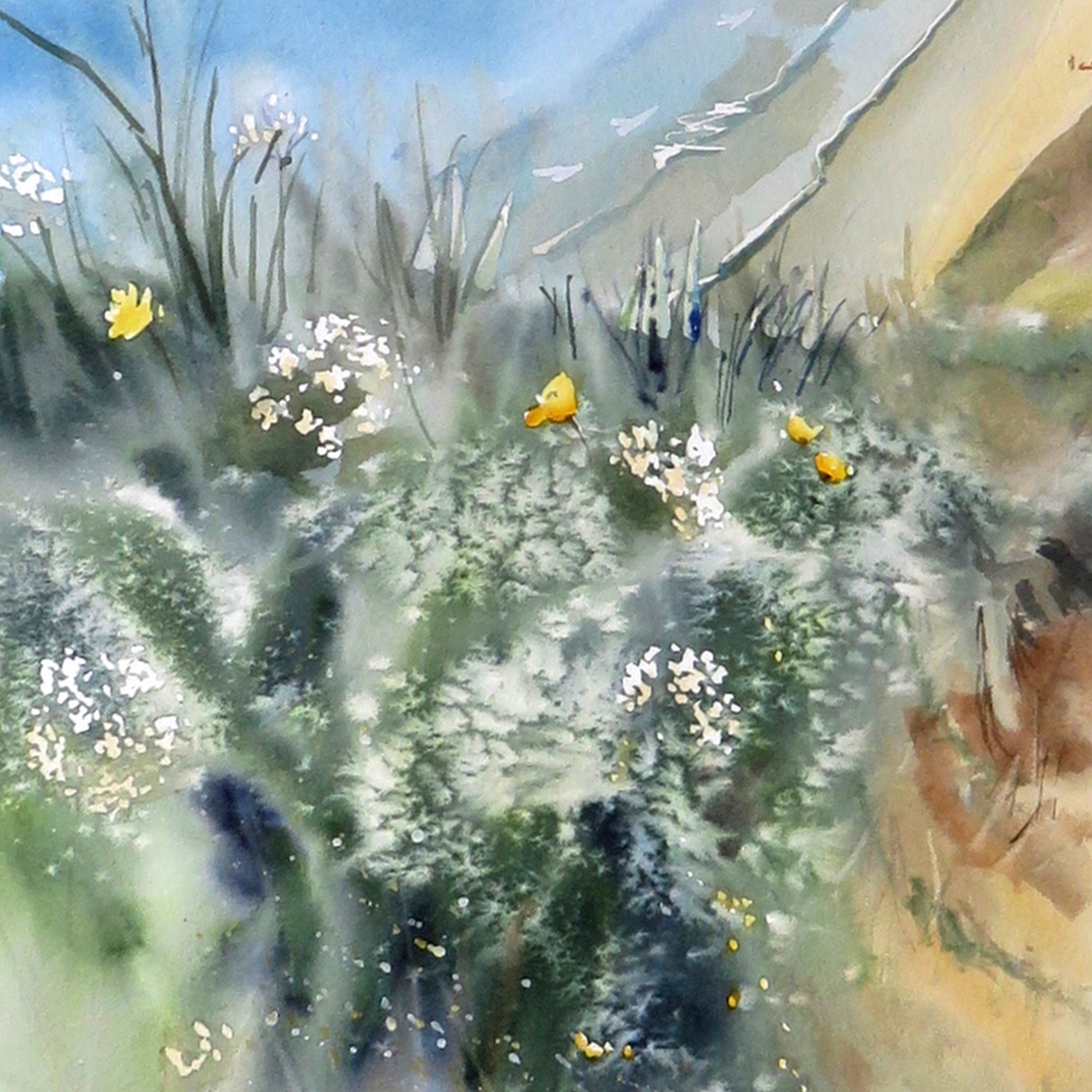 Landscapes in watercolour – online tuition (free)
